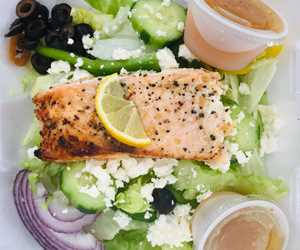 Greek Salmon Salad. Keto approved!